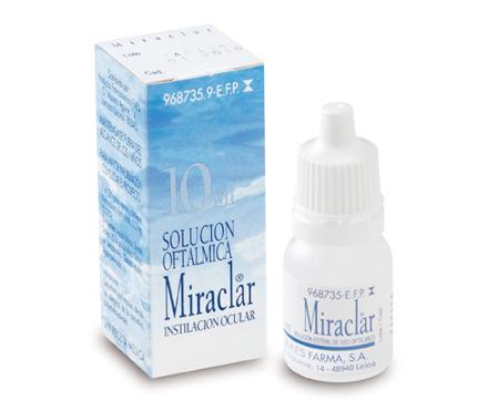 MIRACLAR SOLUCIÓN OFTALMICA , FRASCO DE 10 ML